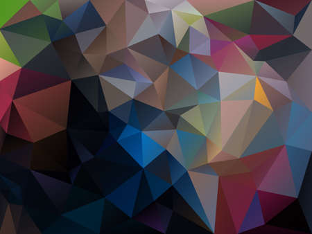 tessellated: vector abstract irregular polygon background with a triangle pattern in dark multi colored spectrum