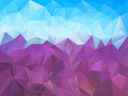 vector abstract irregular polygon background with a triangle pattern in lavender purple and sky blue color Illustration