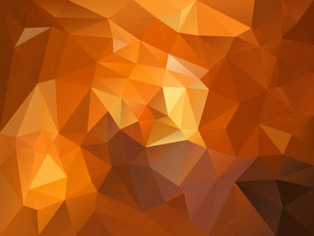 vector abstract irregular polygon background with a triangle pattern in brown and orange color