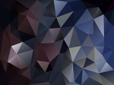 vector abstract irregular polygon background with a triangle pattern in dark blue and purple color