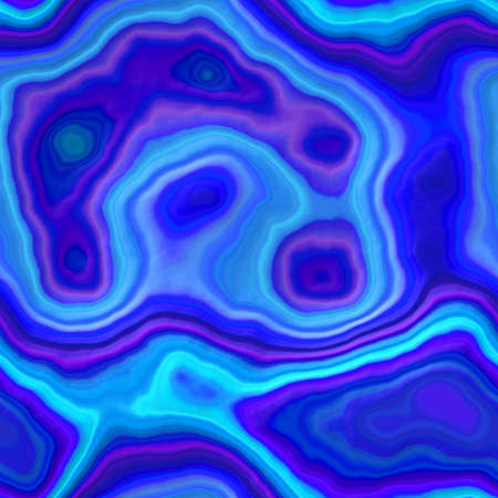 marble agate stony seamless pattern texture background - medium blue, cyan and purple color  Stock Photo
