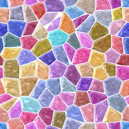 pastel full spectrum colored abstract marble irregular plastic stony mosaic pattern texture seamless background with white grout _ multi colors