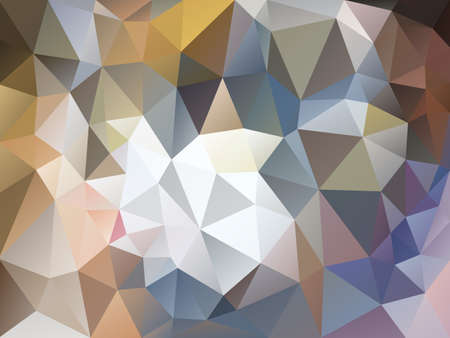 vector abstract irregular polygon background with a triangle pattern in light brown, beige, gray and blue color Illustration