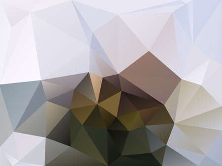 abstract irregular polygon background with a triangle pattern in natural brown, beige and gray color