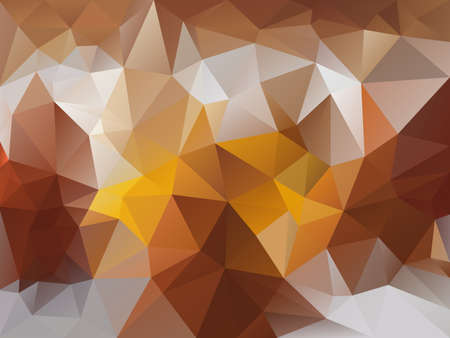 abstract irregular polygon background with a triangle pattern in brown, beige, yellow and gray color