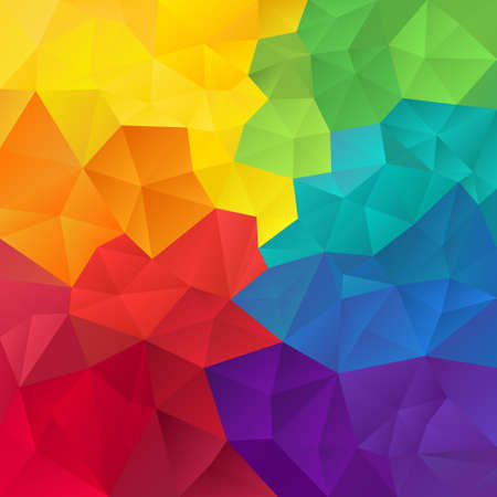 abstract irregular polygon background with a triangle pattern in full spectrum color - rainbow
