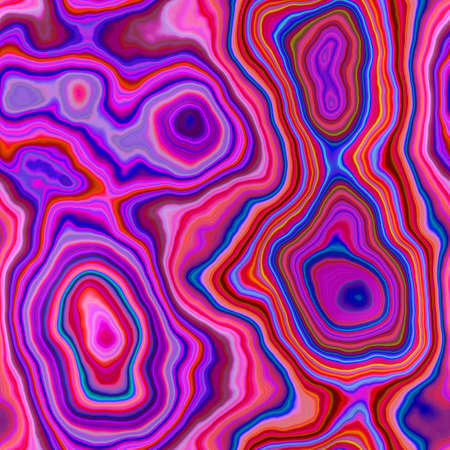 marble agate stony seamless pattern texture background - vibrant hot pink, magenta, purple, violet, red and blue color Stock Photo