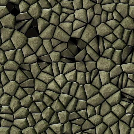 tessellate: cobble stones irregular mosaic pattern texture seamless background - pavement beige colored