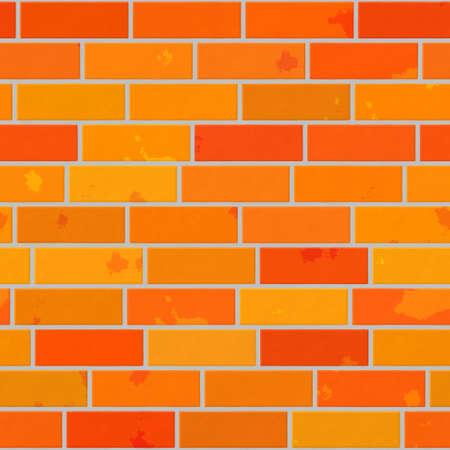cleft: orange seamless pattern texture background - wall brick