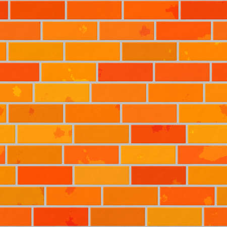 orange seamless pattern texture background - wall brick
