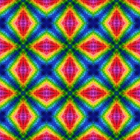 mosaic kaleidoscope seamless pattern texture background - rainbow spectrum colored