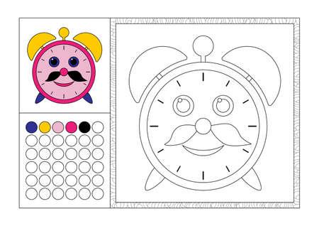 Página De Libro De Colorear Para Adultos Con Plantilla De Color ...