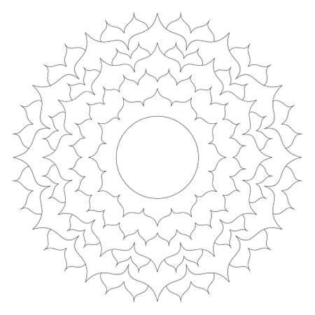 Vektor Schwarz-Weiß-Runde Herbst Mandala Mit Blättern Aus Ahorn ...