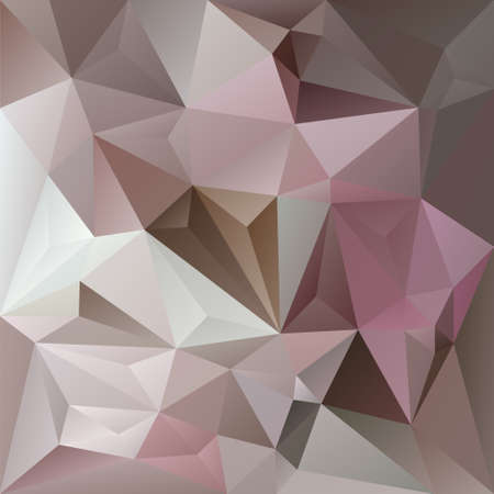 vector abstract irregular polygon background with a triangle pattern in old pink, violet, gray and beige color Illustration