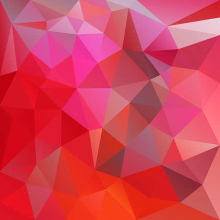 vector abstract irregular polygon background with a triangle pattern in vibrant red and pink color