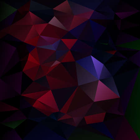 vector abstract irregular polygon background with a triangle pattern in dark red and blue color