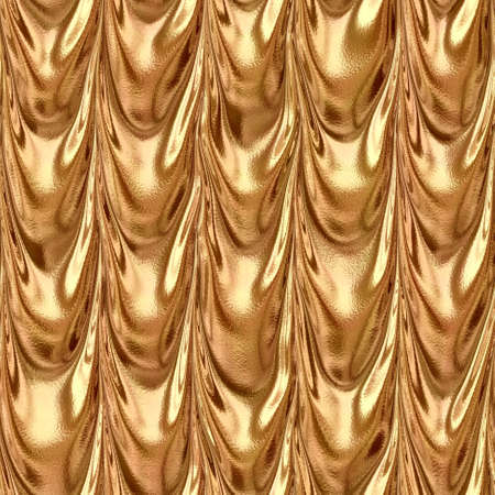 orange bronze draped textile fabric drapery material seamless pattern texture background with a metallic reflection