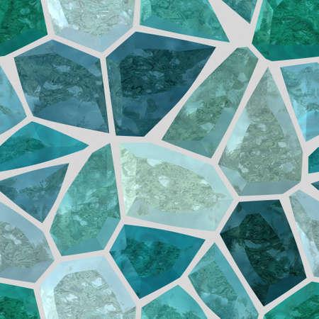 azul turqueza: de fondo sin fisuras suelo de mármol de color irregular de plástico de piedra patrón de mosaico la textura con lechada de cemento gris claro - los colores azul turquesa Foto de archivo