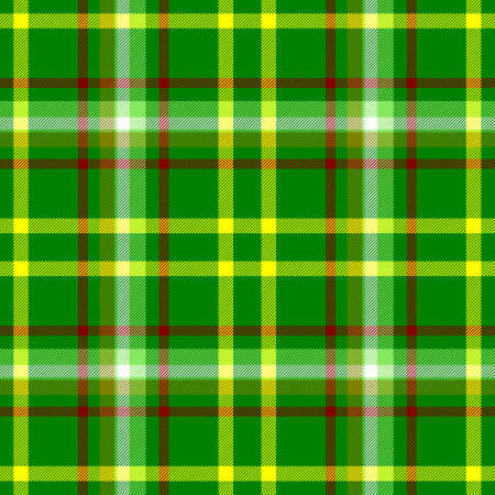 check diamond tartan plaid fabric seamless pattern texture background - vibrant green, yellow, red and white color