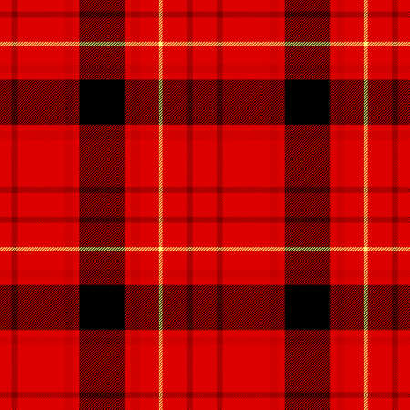 check diamond tartan plaid fabric seamless pattern texture background - vibrant red, black and yellow color