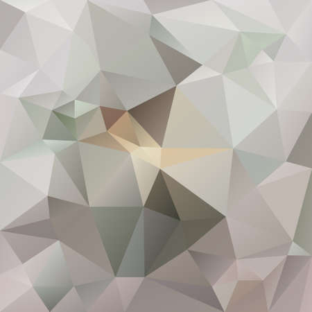 vector abstract irregular polygon background with a triangle pattern in light beige and gray color Illustration