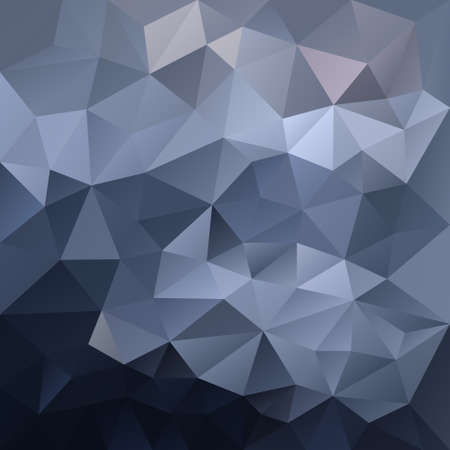 vector abstract irregular polygon background with a triangle pattern in dark blue gray gradient color. Illustration