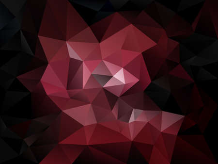 tessellated: vector abstract irregular polygon background with a triangle pattern in dark red color