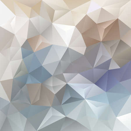 tessellated: vector abstract irregular polygon background with a triangle pattern in light beige gray blue color Illustration