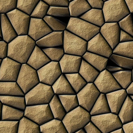 cobble stones irregular mosaic pattern texture seamless background - pavement beige natural colored