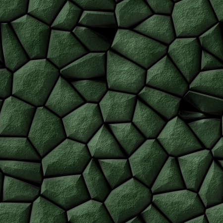 tessellate: cobble stones irregular mosaic pattern texture seamless background - pavement dark green natural colored