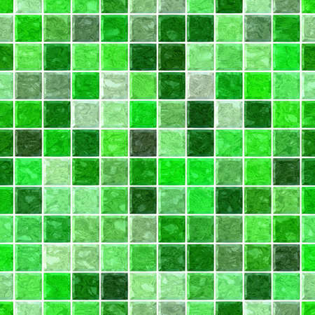 tessellate: colored floor marble checked plastic stony mosaic pattern texture seamless background with white grout - vibrant green colors
