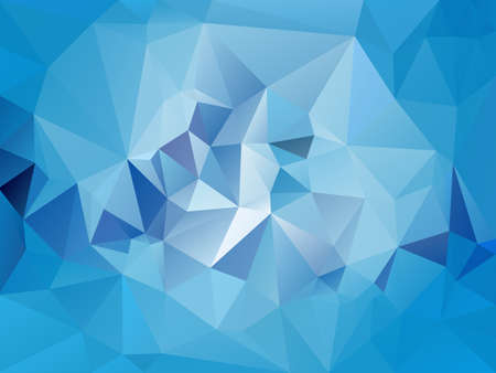 vector abstract irregular polygon background with a triangle pattern in light sky blue color
