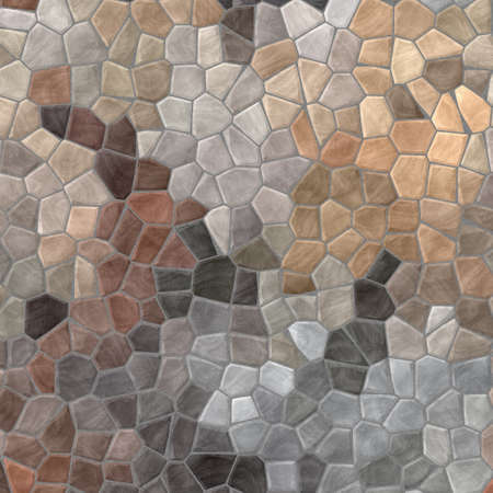 abstract nature marble plastic stony mosaic tiles texture background with gray grout - beige colors 版權商用圖片