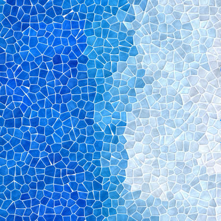 tessellate: abstract nature marble plastic stony mosaic tiles texture background with white grout - sky and light blue gradient colors