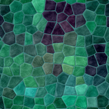 tessellate: abstract nature marble plastic stony mosaic tiles texture background with green grout - emerald and purple colors