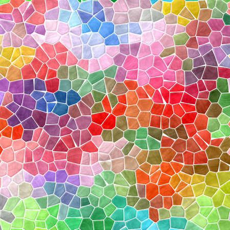 tessellate: abstract nature marble plastic stony mosaic tiles texture background with white grout - fresh spring full color