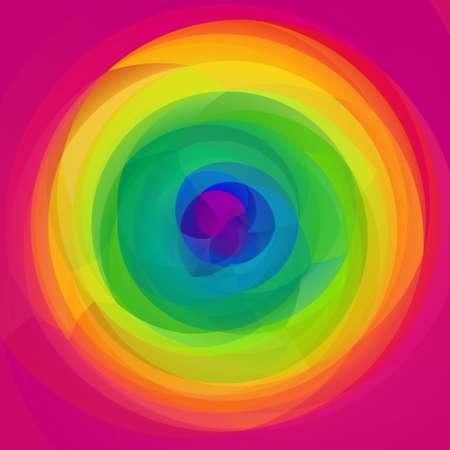 abstract modern art geometric swirl background - full spectrum rainbow colored - hot pink Stock Photo