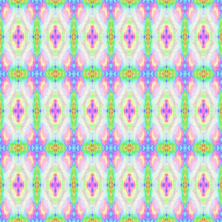 mosaic kaleidoscope seamless pattern texture background - light pastel colors Banco de Imagens