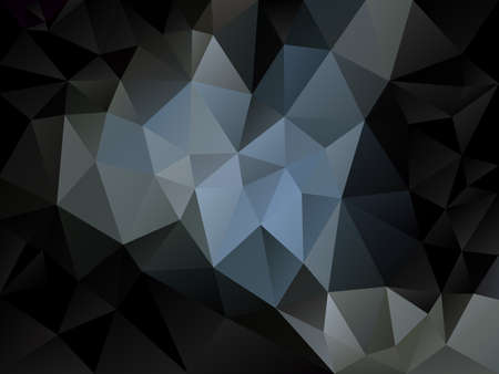 vector abstract irregular polygon background with a triangle pattern in light and dark gray and black color