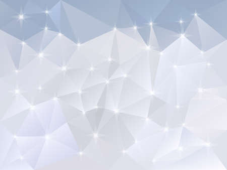 brilliancy: vector abstract irregular polygon background with a triangle pattern in light snow blue and white color with reflection  Illustration