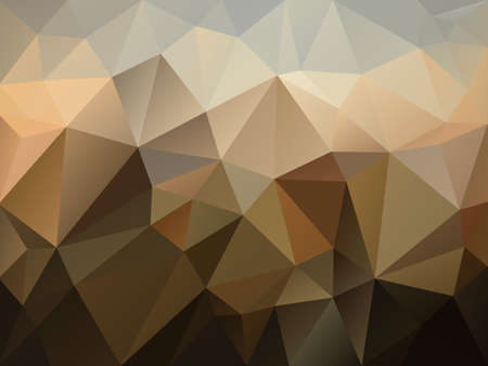 vector abstract irregular polygon background with a triangle pattern in brown, beige and gray color