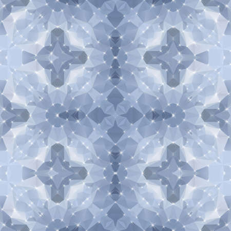 mosaic kaleidoscope seamless pattern texture background - gray colored with reflection