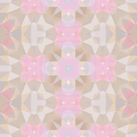 mosaic kaleidoscope seamless pattern texture background - light pastel pink, gray and beige colored Reklamní fotografie
