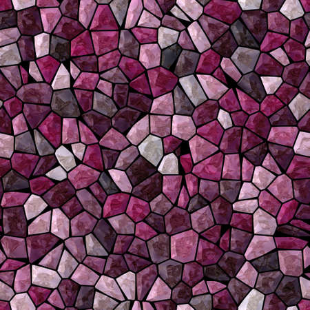 surface floor marble mosaic pattern seamless background with black grout - purple, violet, pink and magenta color