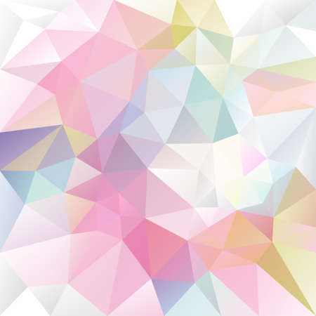 Vector abstract irregular polygon background with a triangle pattern in light baby pastel colors Illustration