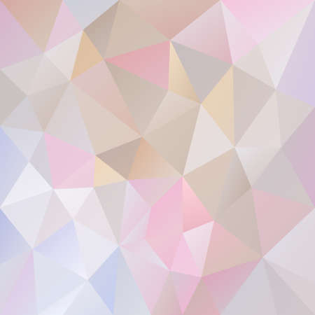 tessellated: Vector abstract irregular polygon background with a triangle pattern in light pastel color - pink, purple, blue, beige, gray