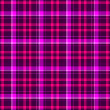 check diamond tartan plaid scotch fabric seamless pattern texture background - dark purple, hot pink and magenta color