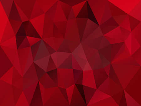 vector abstract irregular polygon background with a triangle pattern in dark bloody red color with reflection Ilustração Vetorial