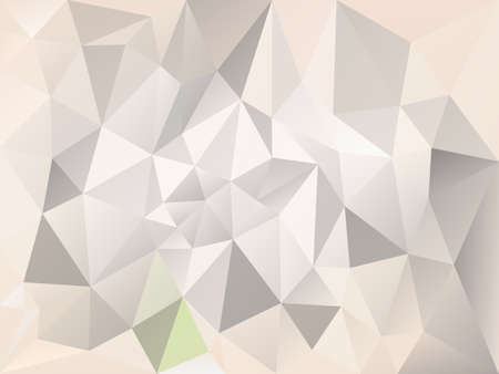 An abstract irregular polygon with a triangle pattern in light gray and beige color