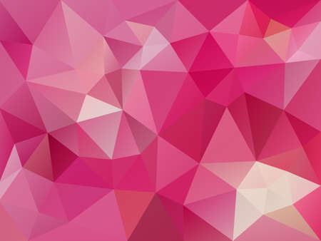 Pink polygon abstract pattern. Illustration